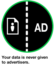 data is never given to advertisers
